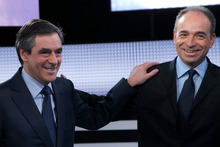 Francois Fillon (left) and Jean-Francois Cope are involved in a heated internal debate.  Photo / AP