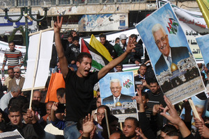 Palestinians during a rally supporting the Palestinian bid for recognition as a non-member state. Photo / AP
