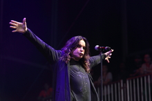 Black Sabbath's Ozzy Osbourne performing at this year's Lollapalooza festival. Photo / AP