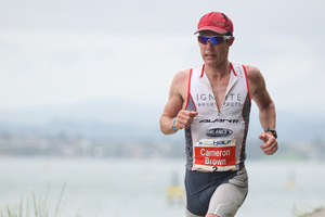 Taupo Ironman contender Cameron Brown. Photo / Joel Ford