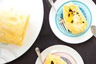 Passionfruit and lime sponge roulade. Photo / Babiche Martens