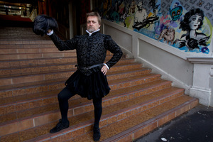 Michael Hurst in his costume. Photo / NZ Herald