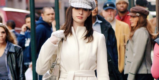 In The Devil Wears Prada Anne Hathaway carries a gold snakeskin satchel.Photo / File