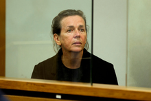 Jacqui Bradley sits in the dock during her sentencing at the Auckland District Court in August 2012. Photo / Greg Bowker