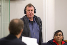 Trevor Ludlow at the Auckland District Court for sentencing on 20 October 2011. Photo / Dean Purcell