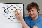 Ben de la Roche and his award-winning design 'Impress', an external refrigeration system. Photo / Mark Mitchell