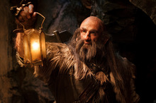 Graham McTavish, who plays Dwalin, has stayed quiet on the origin of his dwarf beard. Photo / Supplied