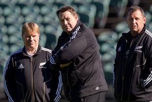 All Blacks coaching staff Brian McLean, Steve Hansen and Ian Foster. Photo / Brett Phibbs