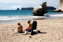The Coromandel and Bay of Plenty are good bets for steady sunshine this summer. Photo / APN