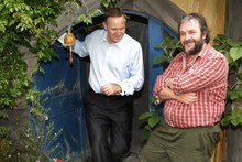 Prime Minister John Key and film director Sir Peter Jackson. Photo / Alan Gibson