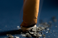 Smoking reduces mental ability after just four years.Photo / File