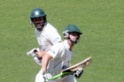 Carl Cachopa (front) this week scored his his sixth first-class century. Photo / APN