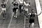 Sir Peter Snell, who lives in the US, won the Olympic 800m title in Rome in 1960 and the 800m and 1500m double in Tokyo in 1964. Photo / Herald File