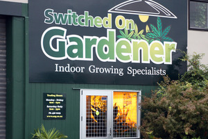 Switched On Gardener shop on Lower Dent St, Whangarei, was searched as part of Operation Lime. Photo / John Stone