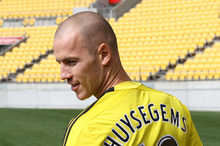 Wellington Phoenix player Stein Huysegems.  Photo / Guy Smith