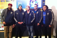 Victor Vito, Israel Dagg, Cory jane, Liam Messam and Ma'a Nonu attended the Chelsea-Fulham fixture today. Photo / ChelseaFC- Twitter