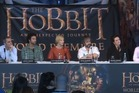 Peter Jackson and the stars of The Hobbit ahead of the film's premiere.