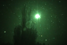 A rural Rotorua resident filmed a strange glowing ball northeast of the city on November 8. Photo / Supplied