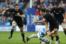 Richie McCaw and Dan Carter in action against Scotland. Photo / Getty Images 