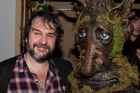 Peter Jackson and Dave from Calgary, who is dressed as an Ent, pose at The Hobbit pre-premiere party. Photo/Marty Melville