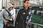Tom Taylor arrives for a recovery session at the Imperial College in London. Photo / Getty Images