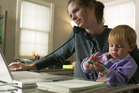 New Zealanders business executives said a challenge of working from home were children, family or pets disturbing work phone calls. Photo / Thinkstock