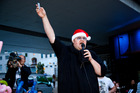 Kim Dotcom attends the turning on of the Franklin road lights ceremony. Photo / Neville Marriner