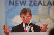 Reserve Bank Governor Graeme Wheeler today delivered his first Monetary Policy Statement - a relatively upbeat affair. Photo / Mark Mitchell