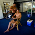 Pvt Tevrta Maka cuts the hair of Cpl Jahley Hayden at their base near Honiara, Solomon Islands. Photo / Dean Purcell