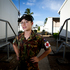 Medic Sophie Woodman at base near Honiara, Solomon Islands. Photo / Dean Purcell