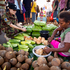 Pvt Mara Van der Merwe at the market in Honiara, Solomon Islands. Photo / Dean Purcell