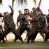 Tongan Haka during the Farwell Parade at the defence base near Honiara, Solomon Islands.  Photo / Dean Purcell