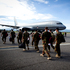 Departing NZDF members head to their plane home at Honiara Airport, Solomon Islands. Photo / Dean Purcell