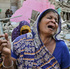 Members of Pakistani Hindu community react next to the rubble of a Hindu temple, which was destroyed by a builder, in Karachi, Pakistan. Photo / AP
