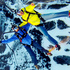 Jesse Hall, left, and Marshall Miller, right, parasail over the Birds of Prey World Cup ski course in Beaver Creek, Colorado. Photo / AP