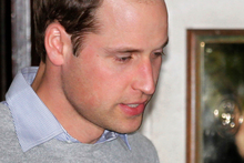 Britain's Prince William leaves the King Edward VII hospital where his wife Kate, the Duchess of Cambridge has been admitted with a severe form of morning sickness. Photo / AP