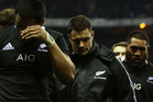 Dan Carter of New Zealand leaves the field after defeat during the QBE International match between England and New Zealand. Photo / Getty Images.