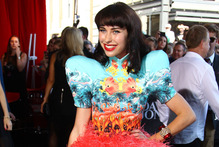 Kimbra at the Aria Awards in Sydney. Photo / AP