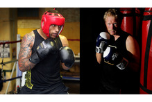 Manu Vatuvei (left) will fight Eric Murray (right). Photo /  Doug Sherring, Christine Cornege