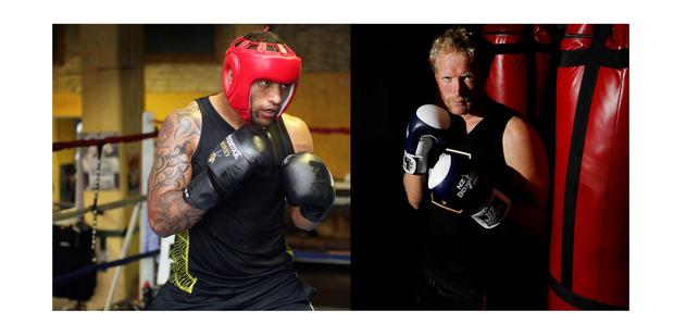 Manu Vatuvei (left) will fight Eric Murray (right). Photo /  Doug Sherring, Christine Cornege