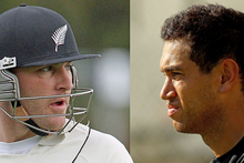 Ross Taylor (right) says he and Brendon McCullum are teammates, and he supports him. Photos / Getty Images