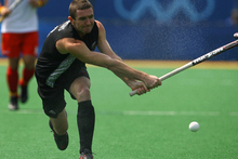 Phill Burrows of the Black Sticks. Photo / Getty Images.