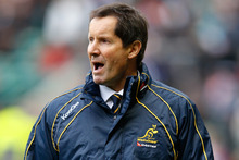 Robbie Deans is putting a brave face on a brutal 2015 Rugby World Cup draw which puts Australia in the pool of death with fellow heavyweights England and Wales. Photo / Getty Images. 