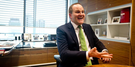 Former Commerce Minister Simon Power, now head of private wealth at Westpac Bank, is throwing himself into his new job with gusto. Photo / Dean Purcell