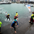 Swimmers come out of the water at the end of the New Zealand Ocean Swim Series, Harbour Crossing. Photo / Dean Purcell