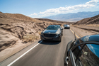 Disguised Mercedes-Benz S-class in testing Death Valley, Nevada. Photo / Supplied