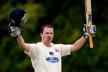 Colin Munro was busy with the bat as he recorded 118 for Auckland. Photo / Greg Bowker