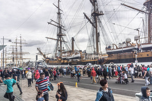Festival bosses say a tall ships festival like that held in Dublin this year would be a rare opportunity for Auckland. Photo /  William Murphy Creative Commons