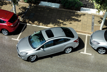 The Ford Focus Titanium  can park itself so it takes the stress out of parallel parking, and does it safely. Photo / Supplied 