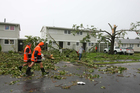 Devastation on Wallington Way, Hobsonville after a series of tornadoes hit Auckland. Photo / Chris Gorman